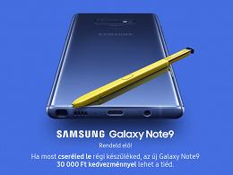 Előrendelhető a Samsung Galaxy Note9 a Telenornál